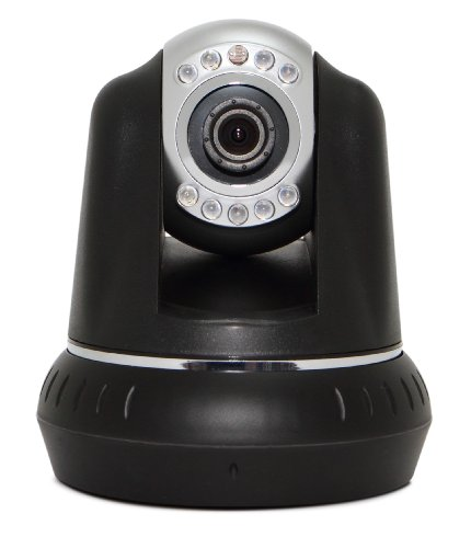 Wireless / Wired Ip Camera /Network Surveillance Camera For Iphone And Android Phone, 1.3M Pixels, H.264, 720P, P2P, Pan/Tile, Night Vision (49 Feet), 92 Degree Viewing Angle, Sd Slot For Recording -Black