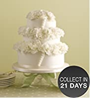 Button Sponge Wedding Cake
