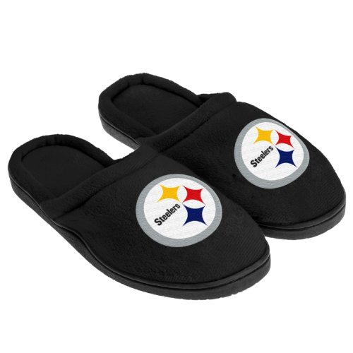 Review for 2012 NFL Football Team Logo Full Cupped Sole Slippers (Pittsburgh Steelers, Mens Extra Large (13-14))