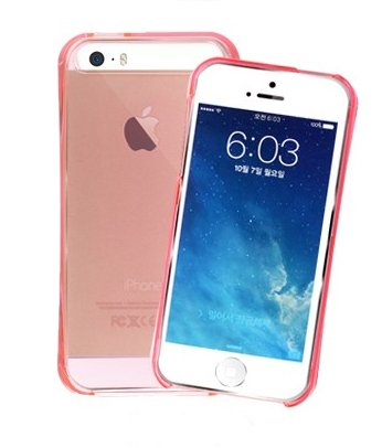 Iphone5 Case, Apple Iphone 5, 5S Crystal Clear Aqua Hard Smartphone Carrying Case, Clear Mobile Cover With Anti-Shock, Water Water Resistance (Light Pink)