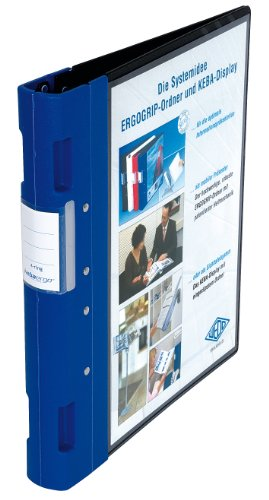 Wedo 05815003 - Archivador plástico con cierre ergonómico A4 4 anillas 40 mm color azul