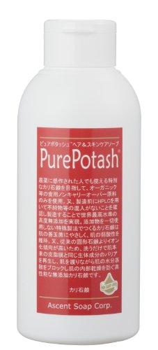 〔オーサワジャパン〕ピュアポタッシュ ヘア&スキンケアソープ 椿EXV 250g