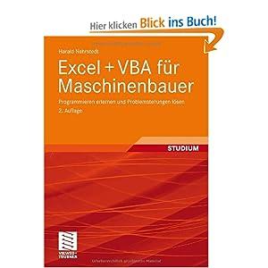 eBook Cover für  EXCEL VBA f uuml r Maschinenbauer Programmieren erlernen und Problemstellungen l ouml sen