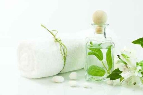 Jar with Fresh Leaves, Flowers and Towel (spa Concept). - 18