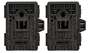 (2) MOULTRIE Game Spy M-880 Low Glow Infrared Digital Mini Trail Cameras - 8 MP by Moultrie