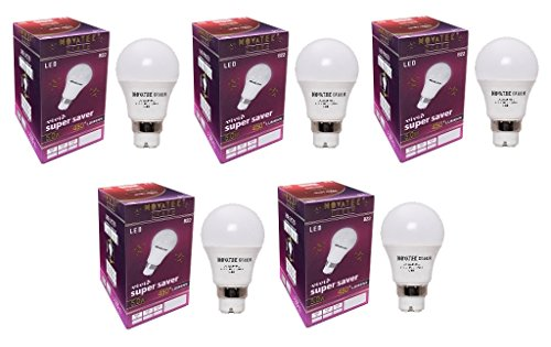 5W LED Bulbs (Cool White, Pack of 5)