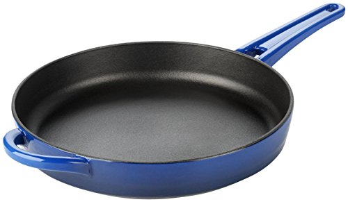 Calphalon 1837740 Simply Enamel Cast Iron Skillet, 10-Inch, Blue (Calphalon Cast Iron Pan compare prices)