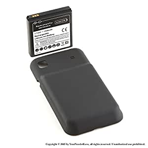 YN4L 3500mAh extended battery for Samsung Galaxy S GT i9000; T959 Vibrant + Black cover