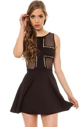 MKL Collective Women's Cruel Intentions Dress Large Black