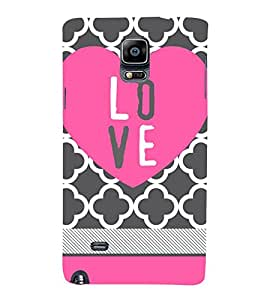 Love Girly 3D Hard Polycarbonate Designer Back Case Cover for Samsung Galaxy Note 4 N910 :: Samsung Galaxy Note 4 Duos N9100