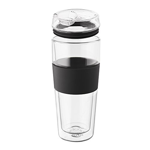 takeya double wall glass tea coffee tumbler 16 ounce black home garden kitchen dining food. Black Bedroom Furniture Sets. Home Design Ideas