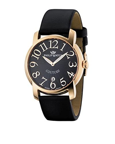 Philip Watch Orologio Swiss Made Couture Nero/Nero