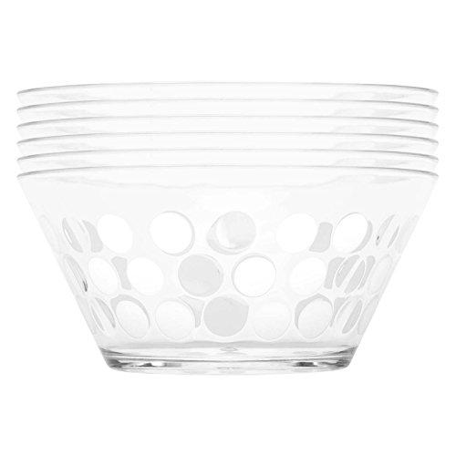 Zak Designs Dot Dot Individual Bowl, Egg White, Set Of 6