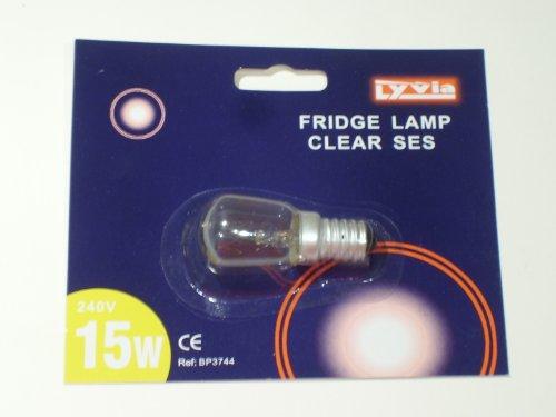 KÜHLSCHRANK LAMPE BIRNE LAMPE, 240 V, SES, 15 W, TRANSPARENT
