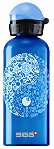 Sigg Lifestyle Sport Top Water Bottle (0.6-Liters, Yin Yang, Soft Blue)