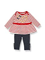 BJ Charles Conjunto Niño T-shirt and Leggins (Rojo / Gris)
