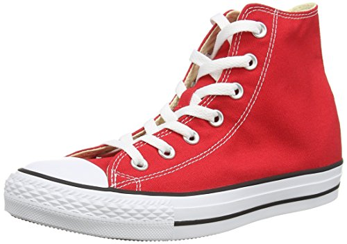 Converse All Star Hi Canvas Sneaker, Unisex Adulto, Rosso (Red), 39