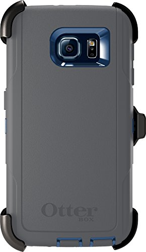 OtterBox DEFENDER SERIES Case for Samsung Galaxy S6 - Retail Packaging - (Royal Blue/Gunmetal Grey)