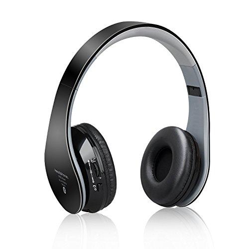 LEVIN Bluetooth ワイヤレスヘッドセット ステレオヘッドホン ノイズリダクションマイク内蔵 折り畳み式 (ブラック)