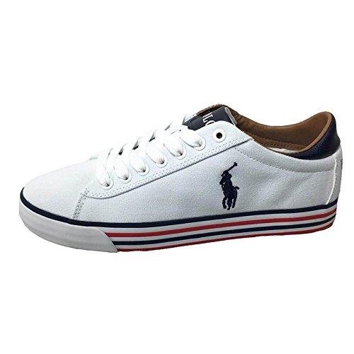 Polo Ralph Lauren Uomo Sneakers, Bianco, 43
