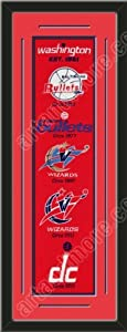 Heritage Banner Of Washington Wizards With Team Color Double Matting-Framed Awesome... by Art and More, Davenport, IA