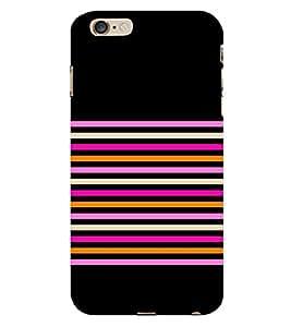 Horizontal Pattern 3D Hard Polycarbonate Designer Back Case Cover for Apple iPhone 6