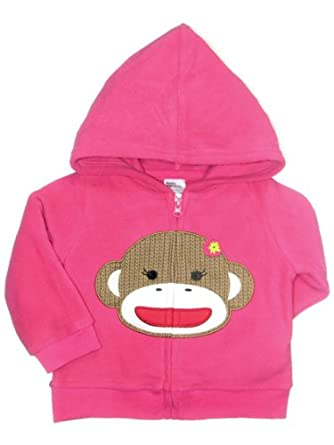 Baby Starters Baby-boys Sadie Sock Monkey Zipper Fleece Hoodie