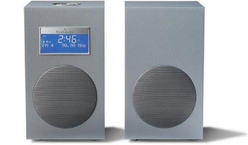 Tivoli Audio - Model 10 - Stereo AM/FM Clock Table Radio - Light Aluminum/Silver (Tivoli Model One compare prices)