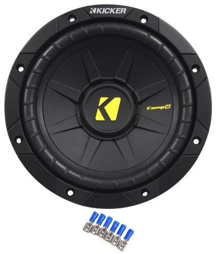 Kicker 40Cwd82 8 Inch 400 Watts Peak / 200 Watts Rms Dual 2-Ohm Car Subwoofer With High-Strength Spiraleadtm Technology