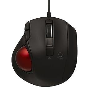 Digio2 Q 極小 トラックボール 有線マウス 静音 5ボタン ブラック 48365