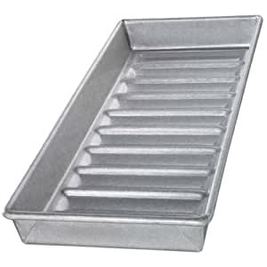 USA Pans 15 x 6 x 1.5 Inch New England Hot Dog Pan, Aluminized Steel with Americoat