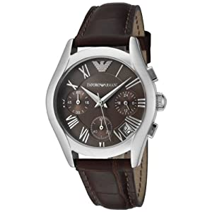 Emporio Armani AR0672 - Reloj de pulsera mujer, piel, color marrón