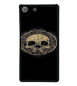 PrintVisa SONM5-Cool Skull Design Metal Back Cover for Sony Xperia M5 Dual E5633 E5643 E5663, Sony Xperia M5 E5603 E5606 E5653