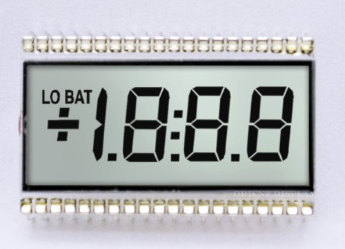 Three Digit Lcd Glass Panel With Lowbat And Plus/Minus Icons (Transflective) Od-358T