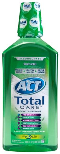 ACT Total Care Rinse, Fresh Mint, 33.8-Ounce