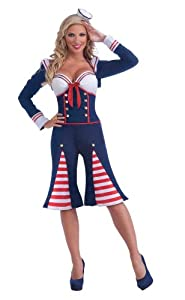 Forum Nautical Millie Complete Costume, Blue, Standard