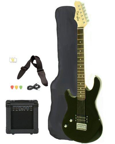 left handed beginner black electric guitar package with amp case picks strap value pack. Black Bedroom Furniture Sets. Home Design Ideas