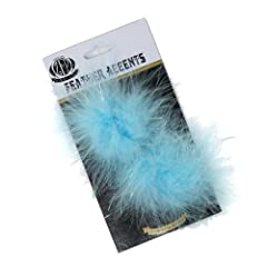 Zucker Feather Products Marabou Shoe Clip with Lurex, Light Turquoise
