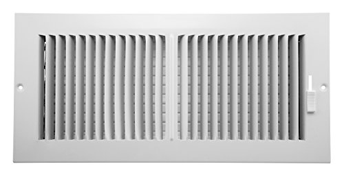 Accord AASWWH2146 Sidewall/Ceiling Register with 2-Way Aluminum Design, 14-Inch x 6-Inch(Duct Opening Measurements), White (14x14 Air Register compare prices)