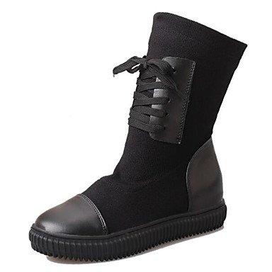 gnmb-mujer-tacon-plano-botas-a-la-moda-botas-vestido-casual-semicuero-negro-gris-black-us55-eu36-uk3