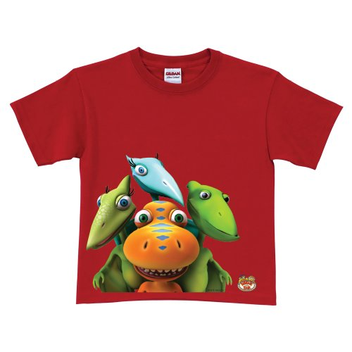 Dinosaur Train Buddy, Tiny, Shiny & Don Red T-Shirt Size 5-6T