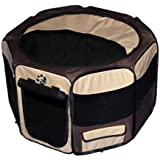 Pet Gear Travel Lite Octagon Pet Pen with Removable Top for Cat and Dog up to 60-Pound, 36-Inch, Sahara