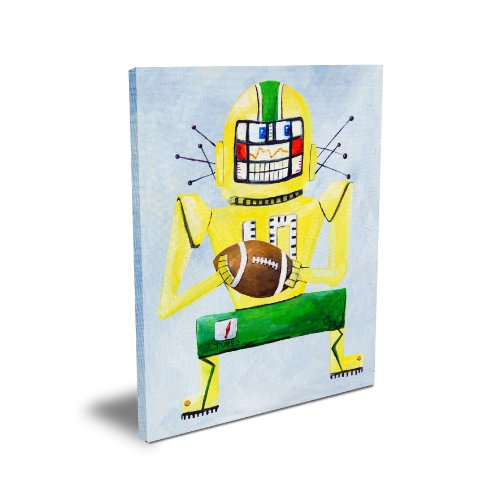 "Cici Art Factory 11""x 14"" Turbo Loves Football, Canvas - 1"