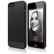 Elago S5 Outfit Aluminum And Polycarbonate Dual Case For The IPhone 5 - Eco Friendly Retail Packaging - Black