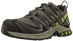 Salomon Men\'s XA Pro 3D Trail Running Shoe,Swamp/Dark Titanium/Seaweed Green,11 M US