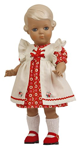 Schildkröt puppe 8834531 Inge blond, rotes Kleid/weisse Punkte Gr. 34