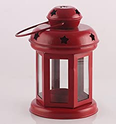 TiedRibbons® Christmas Room Decor Tealight Holder Hanging Lantern(6 Inch X 3.7 Inch)