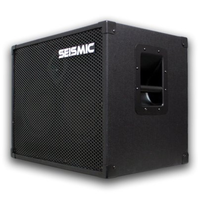 Seismic Audio - 210 Bass Guitar Speaker Cabinet with Horn and Volume Control PA DJ 200 Watts 2x10 PRO AUDIO by Seismic Audio Speakers, Inc.