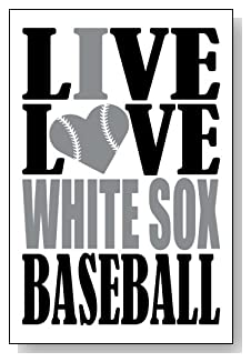 Live Love I Heart White Sox Baseball lined journal - any occasion gift idea for Chicago White Sox fans from WriteDrawDesign.com