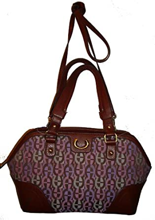 Etienne Aigner Purse Handbag Westchester Collection Black/black (Vachetta/Saddle)